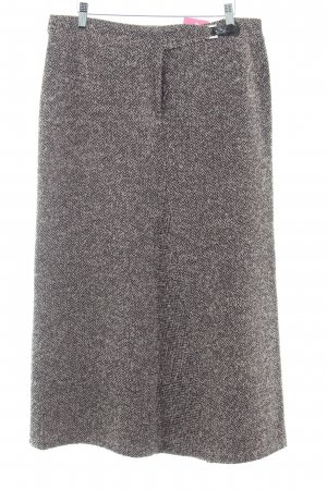 Basset Jupe en tweed noir-rose moucheté style décontracté