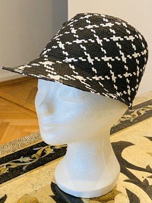 Zara Home Kapelusz przeciwsłoneczny czarny-biały