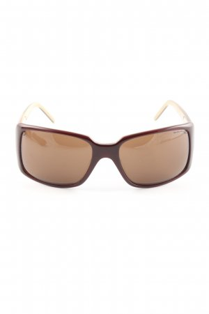 Angular Shaped Sunglasses brown casual look