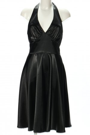 Bastet Vestido de cuello Halter negro elegante