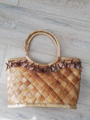 Made in Italy Torebka koszyk beżowy-camel