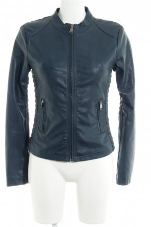 Bata Faux Leather Jacket petrol casual look