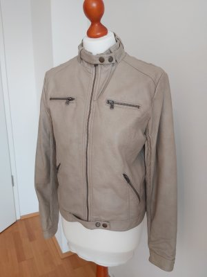 Bata Leather Jacket grey brown