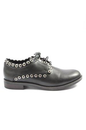 Bata Chaussure Oxford noir style mouillé