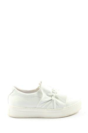 Bata Sneaker slip-on bianco stile casual