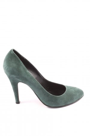 Bata Pointed Toe Pumps green casual look