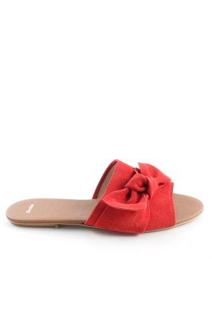 Bata Claquette rouge style décontracté