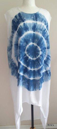 Aus Indien Vestido mullet blanco-azul