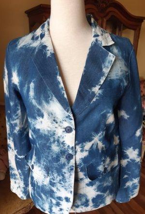 AC Korte blazer wit-blauw