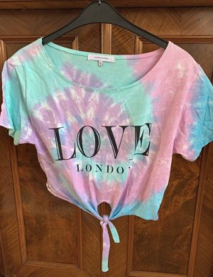 Topshop T-shirt rosa-turchese