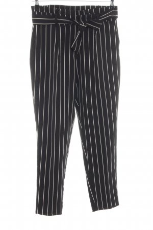 Batik Peg Top Trousers black-white striped pattern business style