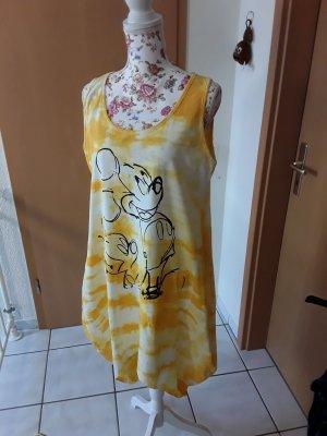 Hand made Balloon Dress white-yellow
