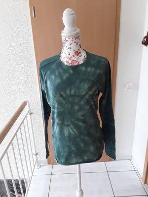 Hand made Camisa batik blanco-verde