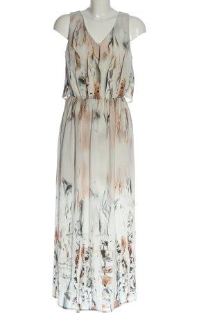Batik Sukienka koszulowa jasnoszary Abstrakcyjny wzór W stylu casual