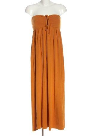 Batik Sukienka bez ramiączek jasny pomarańczowy W stylu casual