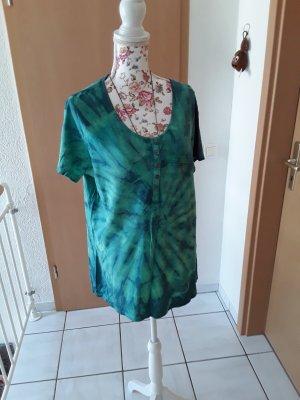 Hand made Batik shirt geel-groen