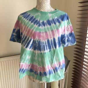 Zara Koszulka typu batik Wielokolorowy Bawełna