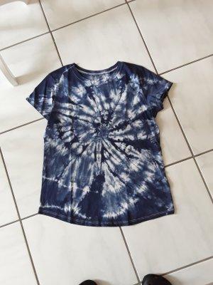 Hand made Camisa batik gris claro-azul