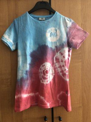 Batik Shirt, blau rosa rot bunt, Gr. S, VW