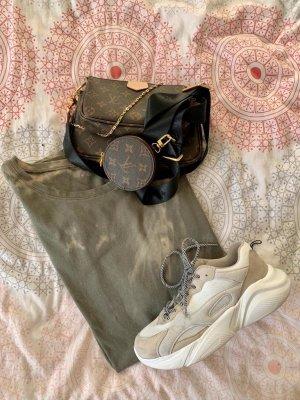 Batik Shirtkleid Oversize Shirt Blogger khaki olive grau