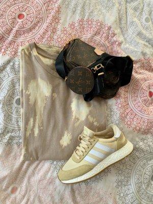 Batik Shirtkleid Oversize Shirt blogger nude beige