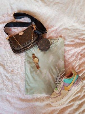 Batik Shirtkleid Oversize Shirt blogger pastel grün