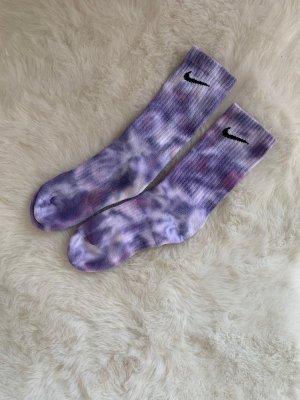 Batik Socken lila
