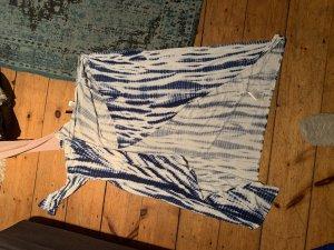 H&M Pilotenjas wit-blauw