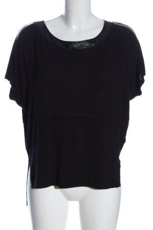 Batik Gebreid shirt zwart casual uitstraling