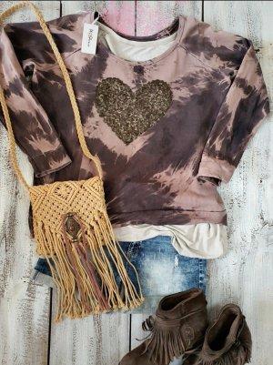 Top batik multicolore coton