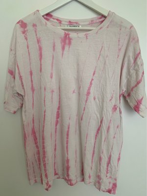Pull & Bear Batik Shirt white-pink