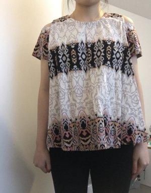 keine Marke Batik Shirt multicolored