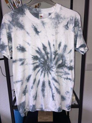 True Vintage Koszulka typu batik biały-szary