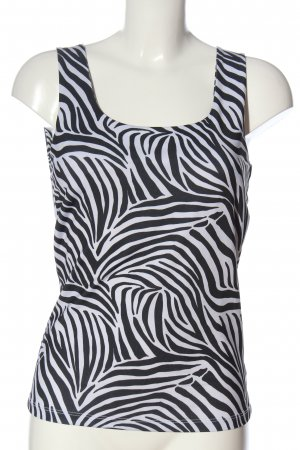 Batik Strappy Top white-black abstract pattern casual look