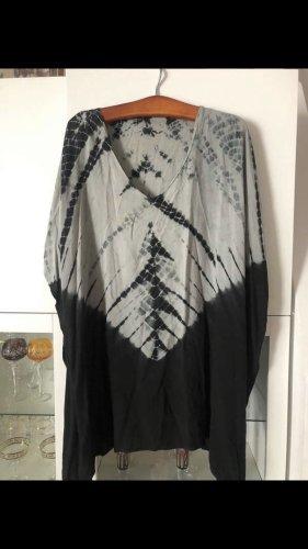 0039 Italy Chemisier kimono noir-gris