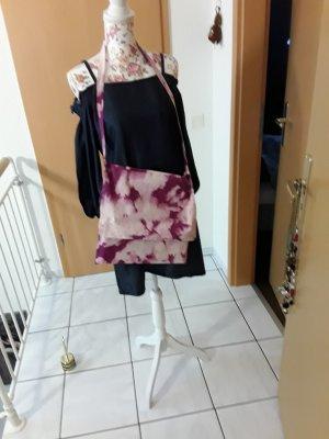 Hand made Stoffen tas licht beige-roze