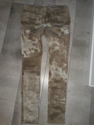 Pantalon strech taupe-beige clair