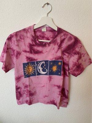 BGD Urban Outfitters Batik shirt roze-braambesrood