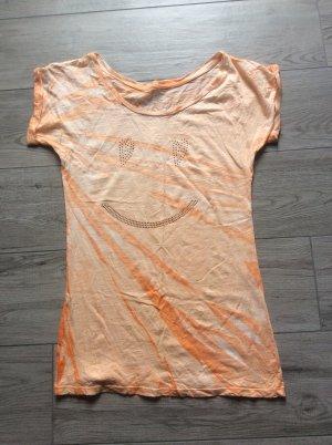 Batik shirt abrikoos-oranje