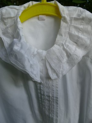 Blouse à volants blanc coton