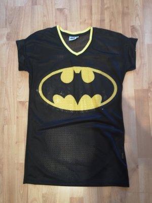 Batman Sukienka o kroju koszulki czarny-żółty