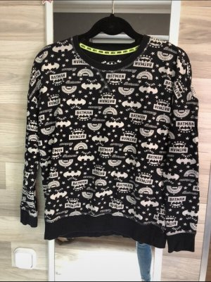 Primark Fleece Jumper black-white