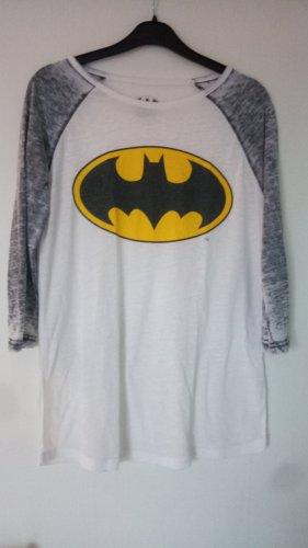 Batman Print Shirt white-grey