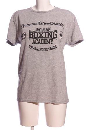Batman T-shirt wolwit-zwart gestippeld casual uitstraling