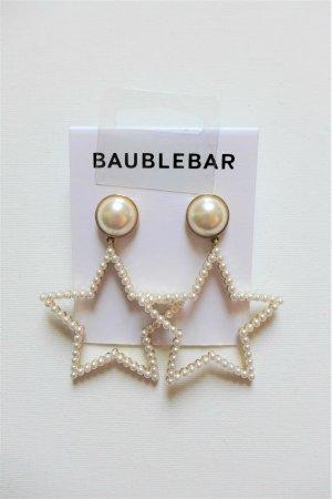 Baublebar Ohrringe Ohrstecker Hänger Stern Perle creme gold neu