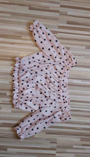 Pull & Bear Top spalle scoperte nero-rosa