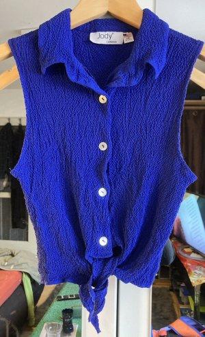 Jody California Camicia cropped blu