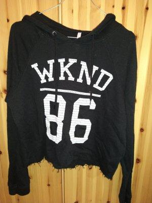 New Yorker Capuchon sweater wit-zwart