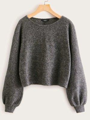 SheIn Crewneck Sweater dark grey