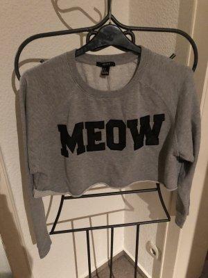 Bauchfreier Pullover Meow